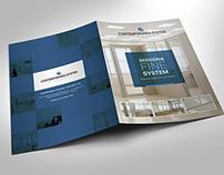Folder para empresa de divisórias especiais