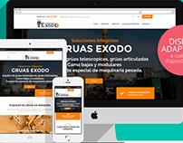 Website gruasexodo.com | Diseño Web Responsive