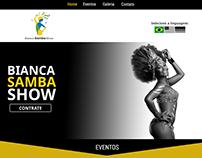 Bianca Samba Show - Website Layout