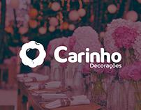 Carinho Decorações - Logo Design - Fictício/Fictitious