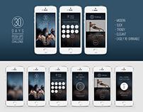 """30 Days Push Ups Challenge"" / Mobile App"