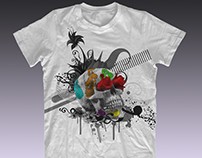 diseño para un t-shirt : dead happy