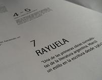 Edición de dos pliegos, homenaje a Rayuela.