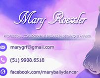 Cartão de visita para professora de Danças Árabes.
