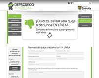 Deprodeco Website Design