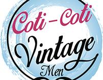 Creación de logo Coti-Coti Vintage men.
