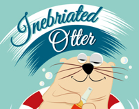 Identity, Label design for Inebriated Otter. Beer NY