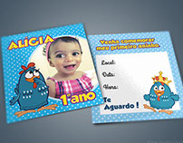 Convite e Tag Galinha Pintadinha
