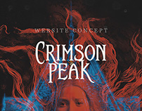 Crimson Peak — Website Concept