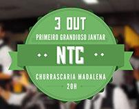 Cartaz para o primeiro jantar de curso NTC, 2013/14