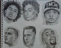 Dibujando Raperos Venezolanos ~  Mini Retratos