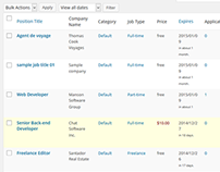 Site de Empleios en Wordpress