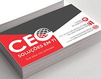 Arte Cartão CEO Soluções em TI
