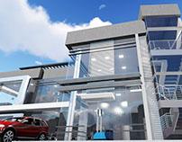 Modelado 3D Oficinas administrativas