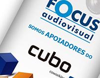 Folder Cubo Coworking e Focus Audiovisual
