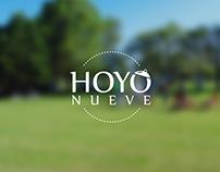 Diseño Logo HOYO NUEVE