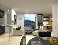 Interior 3D - Torre Martí para XY Animation Studios