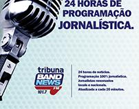 Trabalho Acadêmico para Tribuna Band News. Indoor