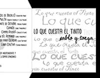 """CD Cover """"Lo Que Cuesta el Tinto""""  Pablo Aimi G.Ceruti"""