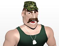 Personagem 3D: Soldado