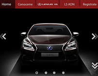 Landing Page - Lexus LS
