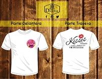 Diseño de Franelas para empresa (Kisses Tienda)