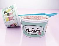 Diseño gráfico para envase de Helado