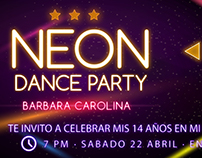 Invitación Neón Party