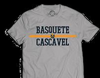 Linha de camisetas | Basquete Cascavel