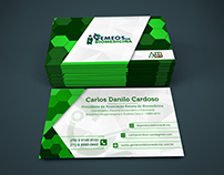 Cartões de visita - Gêmeos da biomedicina