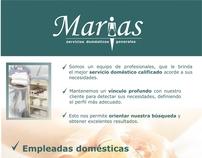 Marias, servicios domésticos generales