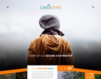 Oasis Jacket Homepage Design