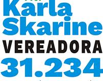 Logotipo Candidata à Vereadora Karla Skarine - 2016