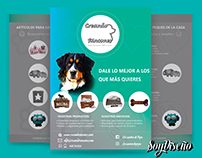 Design of flyers and logo for pet furniture company