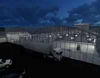 Render 3D Planta Industrial
