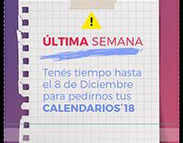 Promoción Calendarios '018 - Estudio Nube