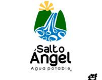 """Imagotipo id para """"Salto Ángel"""" agua potable."""