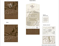 Invitación de bodas. Wedding invitation:  brown colors.