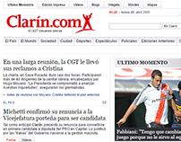Clarin.com | Rediseño web