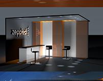 Proyecto stand eventos corporativo Zeppled