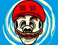 Game Over Mario skull - Shirt