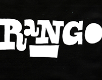 Rango. Hand-drawn custom type for main on end titles