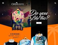Oasis Sublimation Website Design