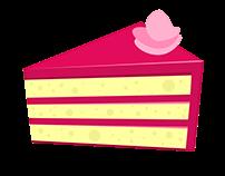 Fiverr Order: Cake Slice Illustration for Sweet Peek