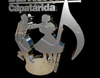 Logo 3D Cromado para Danzas Barrio Norte de Capatárida.