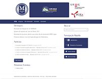Website Dept. de Matemática da UFMG
