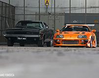 Toyota Supra e Dodge Charger R/T