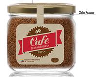 Etiquetas para empaque de café instantáneo