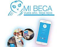 Diseño de Cartel y Flyer para promocionar App Mi Beca