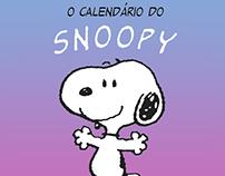 Calendário do Snoopy 2016